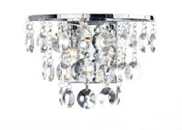 Jester Wall Light in Polished Chrome with Crystal Decoration, Switched - där JES0950